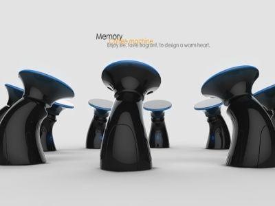 Hand Recognition Coffee Maker : Machine a Cafe a Reconnaissance Digitale Memory Alice VACHET